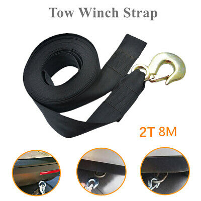 8m Auto Accessories Universal Trailer Boat Nylon Winch Rope Towing Strap Front
