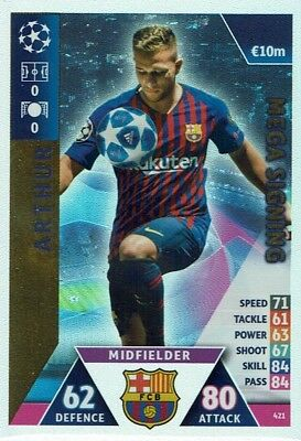 Topps Match Attax Champions League 2018/2019 Mega Signing Arthur 421