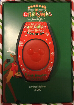 New Disney Mickey's Very Merry Christmas Party 2019 Magic Band LE 3000