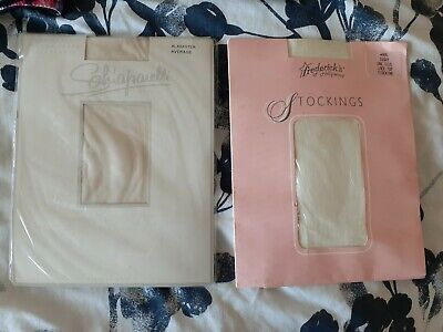White Stockings Vintage Two In Boxes