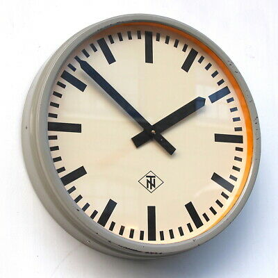 WEST GERMAN Midcentury Vintage Retro Industrial Factory Office Wall Clock