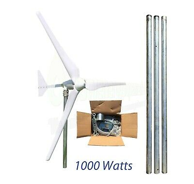 1KW/1000w Wind Turbine 48V Generator Mast Kit Boat UK Stock OffGrid Power Energy