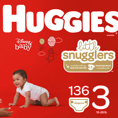 Little Snugglers Diapers, Size 3, 136 Count