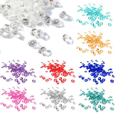 1000 Craft Crystals Scatter Bead Rhinestone Decor Diamante Gems Acrylic Crafting