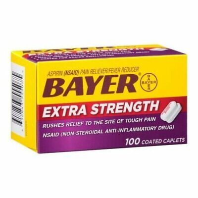 Bayer Extra Strength Aspirin Pain Reliever 500mg Coated Caplets - 100 per...