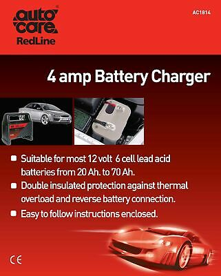 2x 4Amp Battery Charger AC1814 Autocare Genuine Top Quality NEW MULTIBUY SAVER