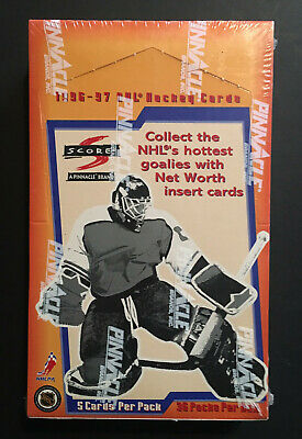 1996 /97 Pinnacle Score NHL Hockey Wax Box 36 Packs factory sealed box Inserts
