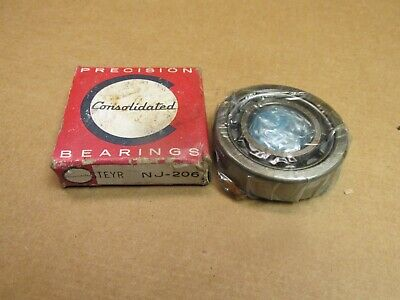 CONSOLIDATED STEYR NJ206 CYLINDRICAL ROLLER BEARING NJ-206 30x62x16 mm
