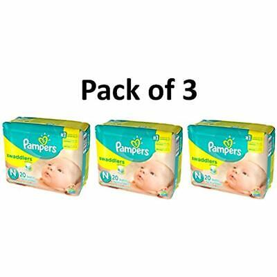 Swaddlers Disposable Diapers Diapers, Size Newborn, 20 Count Pack 3 (Total 60