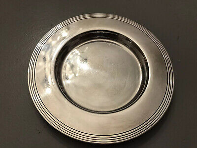 MAPPIN & WEBB SILVER PLATED PIN TRAY. 13cm Diameter