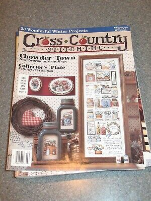 Cross Country Stitching February 1994 Chowder Town Collector's Plate