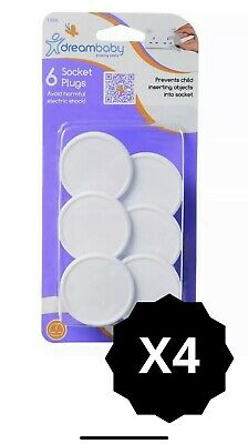Baby Proofing Home TODDLER SAFETY ELECTRIC SOCKET COVERS - 4x6 PACK - Dreambaby