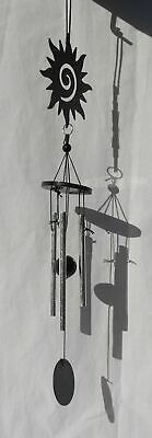BEAUTIFUL MOON FACE WIND CHIME SUN CATCHER METAL GLASS NEW /& BOXED 17/""