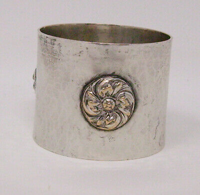 arts and crafts hammered metal napkin ring