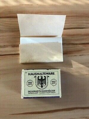Original Germany Matchbox And Cigarette Paper Ww2 Wehrmacht New