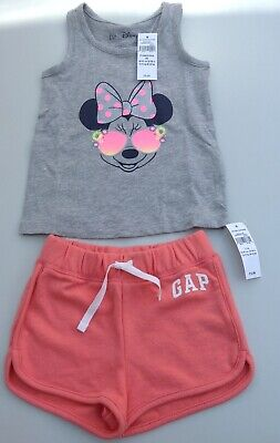 Gap girls Minnie Mouse vest top and shorts age 2