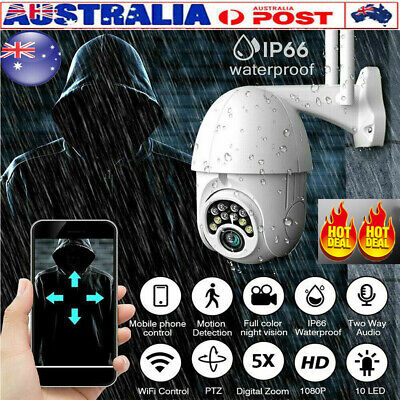 AU STOCK Zoom 1080P HD WiFi Outdoor Camera Wireless Security Night Vision
