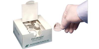 Dental Health 32-SAG Dri-Angle Silver Backing Cotton Roll Substitute Small 400Bx