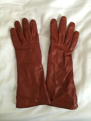 Brown Leather Gloves Size 6.5
