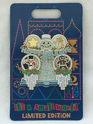 Disney Parks Happy Holidays 2019 it's a small world Pin-on-pin Snowman LE 3000