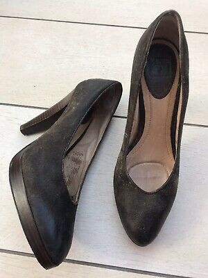 FRYE HARLOW distressed Brown Leather High Heel Pumps/court Shoes.size 8