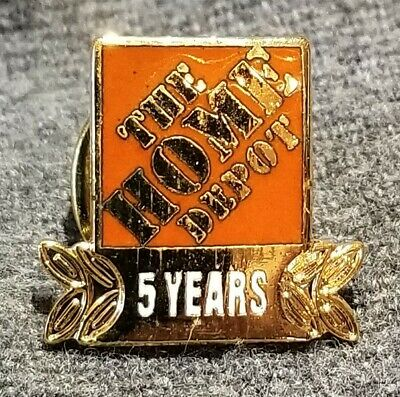 LMH PINBACK Tie Lapel Pin HOME DEPOT Employee Apron 5 YEARS SERVICE Year Award t