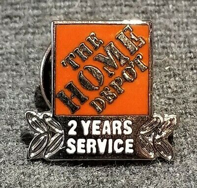 LMH PINBACK Tie Lapel Pin HOME DEPOT Employee Apron 2 YEARS SERVICE Year Award