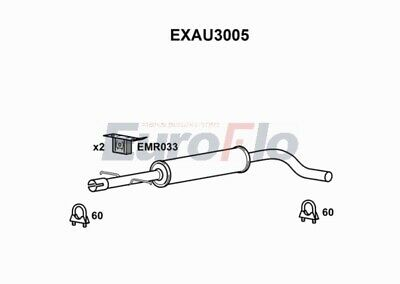 EXHAUST CENTRE MIDDLE SILENCER FOR MINI GBM427 OEM QUALITY