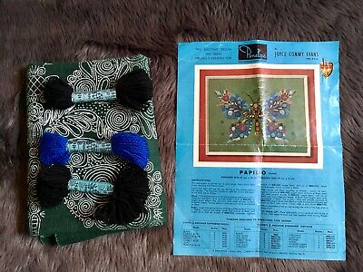 Butterfly Penelope Crewel Embroidery Kit Papilo Joyce Conwy Evans Anchor Wool