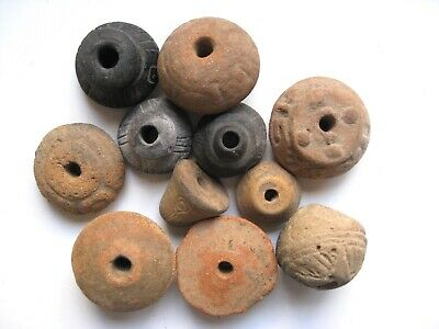 Pre Columbian Beads Lot of 11 Artifacts