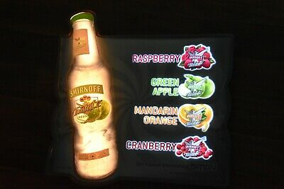 Smirnoff Twisted National Launch Illuminated Flashing Lighted Wall Sign Display