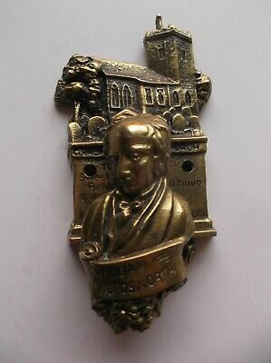 Vintage William Wordsworth Solid Brass Door Knocker