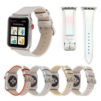 Bling Patent Leather Band for Apple Watch Series 5 4 3 2 1 PU Strap Watchbands