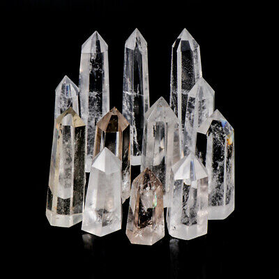 Clear Quartz Crystal Point Natural Wand Specimen Reiki Healing Stone~