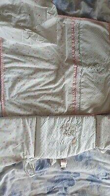 Mothercare confetti Party Crib Bale bedding Bumper quilt fitted sheet Ex con