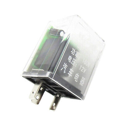 Car 12V 160W 3Pin Turn Signal Blink Light Electronic Flasher Relay W// Buzzer