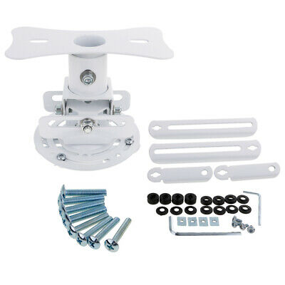 Universal LED HD Projector Ceiling Mount Wall Bracket Holder White