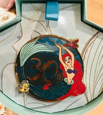 Shanghai Disney Princess Jumbo Pin  Little Mermaid Ariel 30th Anniversary LE500