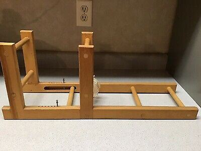 "Vintage Inkle Loom Table Top Wooden Weaving Loom 24"" x 7"" Textiles Rug Crafts"