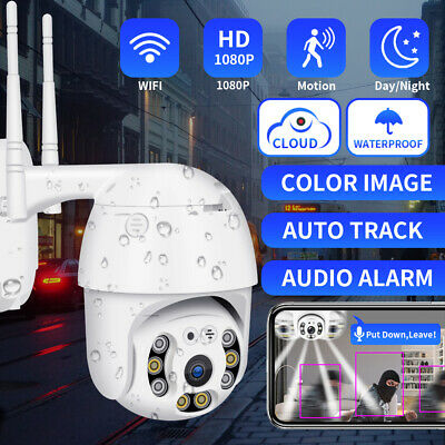 1080P HD Wireless Wifi IP Camera Dome PTZ Outdoor CCTV Home Security 2MP Ring AU