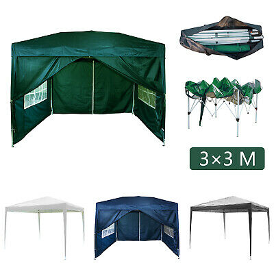3Mx3M Gazebo Marquee Canopy Pop-up Waterproof Garden Wedding Party Tent 2 Styles