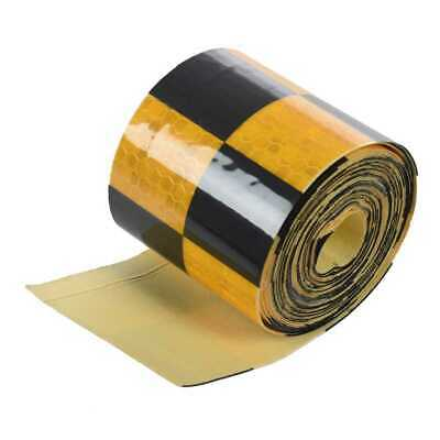 Reflective Safety Warning Conspicuity Tape Marking Film Sticker black&yello U9D5