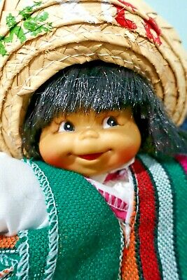VINTAGE vinyl MEXICAN /  DOLL CUTE CHEEKY full of Character