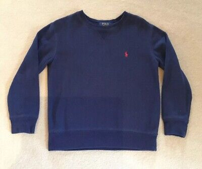 ***** Polo Ralph Lauren Boys Navy Jumper With Red Emblem Age8 ****