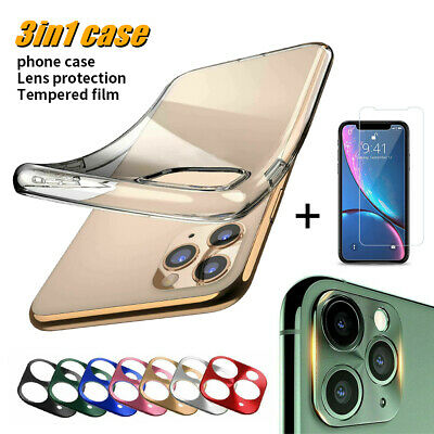 Full Cover Protection Cryctal Clear Case TPU Clear Soft Case Cover Tempered Film