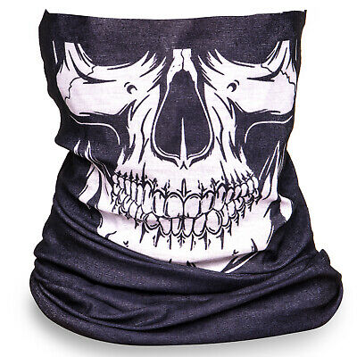 Skull Cycling Motorbike Motorcycle Bicycle Neck Tube Snood Neck Warmer