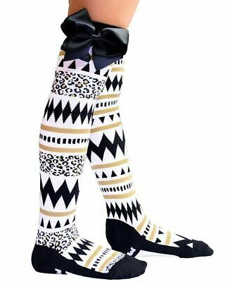Madmia Tribal Socks Kids Adults Cool Crazy Gold Fun Bows Different Stretchy Cute