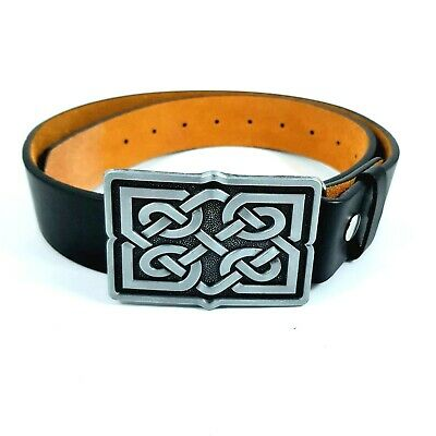 Celtic Knotwork Belt & Buckle Biker Pagan Gaelic Viking Norse Nordic Wicca
