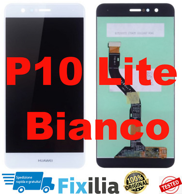 LCD DISPLAY + TOUCH SCREEN Originale HUAWEI P10 LITE WAS-LX1 LX1A Bianco