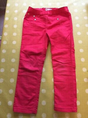 Next Girls Red Trousers 3-4 Years